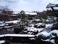 冬景色の日本庭園(由志園)